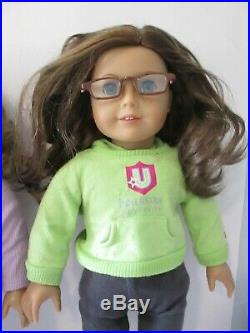 American Girl Doll Lot! 3 18 Inch Dolls! With locker, backpack and extras