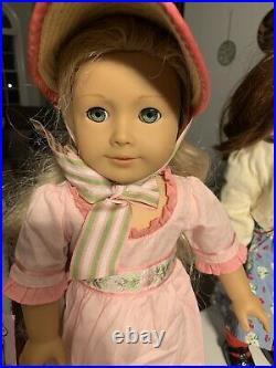 American Girl Doll Lot 7 Dolls EmilySamanthaCarolineSaigeFelicityNellieReb