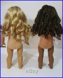 American Girl Doll Lot Of 2 Nude Dolls Lanie Truly Me