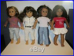 American Girl Doll Lot Of 4 Dolls Retired with Clothes 18 Isabelle, 2013,2011 +