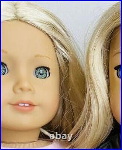 American Girl Doll Lot, Tenney, Caroline. Grace Thomas Lot Of Three Dolls