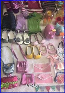 American Girl Doll Lot With Outfits And Accessories