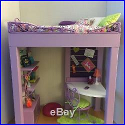 American Girl Doll MCKENNA LOFT BED Desk Chair, Hamster & many accessories