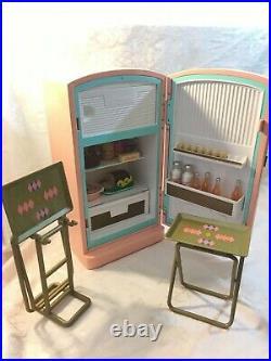 American Girl Doll Maryellen 1950s Kitchen REFRIGERATOR Fridge Food Play Set
