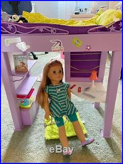 American Girl Doll McKenna and Loft Bed set with most accessories gently used