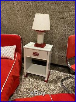 American Girl Doll Molly Bed, Nightstand, Lamp, Table and Chairs, Pleasant Co