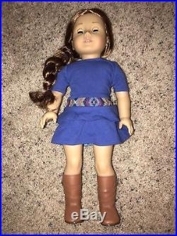 American Girl Doll Saige Girl Of The Year 2013 In Original Meet Outfit Retired