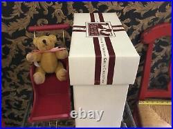 American Girl Doll Samantha RET PC Victorian Pram & Mohair Teddy Bear, RARE IOB