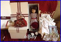 American Girl Doll Samantha lot Retired Original Boxes Brass bed & Accessories