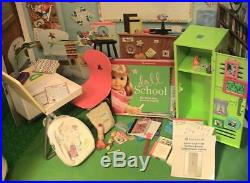 American Girl Doll School Mega Lot Desk, Lunch, Locker, Book Bag Sets & More