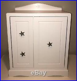 American Girl Doll Storage White Wood Cabinet Chest Amoire, Retired, Rare