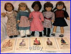 American Girl Doll Vintage Lot Molly, Addy, Felicity, Samantha & Kirsten