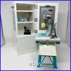 American Girl Doll Z Yang's Desk Set Accessories Lamp Laptop Monitor Retired