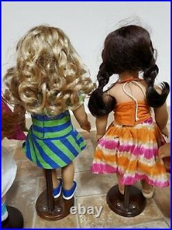 American Girl Dolls Jess Lanie Kanani Isabelle Mia McKenna Retired
