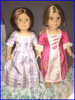 American Girl FELICITY and ELIZABETH Dolls Pleasant Company Best Friends Lot
