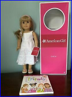 American Girl Gwen With Box And Book Display Doll
