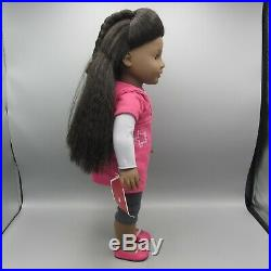American Girl JLY 1 African American 18 Just Like You Doll + Box Retired 2009