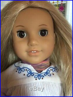 American Girl Julie Albright Blonde Hair 1970s Doll, Canopy bed & Clothes
