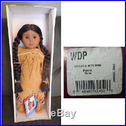 American Girl KAYA 18 Doll w Box + Teepee w Base & Accessories / Food / Fire