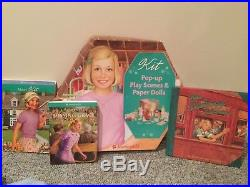 American Girl KIT KITTREDGE Doll Scooter, Books, Pop-Up Paper Play + Clothes LOT