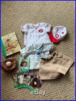 American Girl KIT Reds Baseball Outfits, Complete, Cards, Book