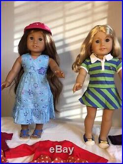 American Girl Kanani & Lanie + Extras Lot Nice