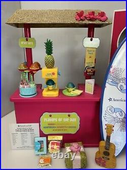 American Girl Kanani Lot with Box Shave Ice Stand Ukelele Paddleboard Luau + Boxes
