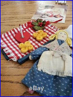 American Girl Kirsten St Lucia Wreath NightGown Tray Candles Christmas Set