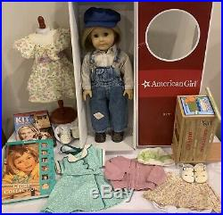 American Girl Kit BIG LOT Doll Hobo Meet Outfits Dresses Scooter Box Book Movie