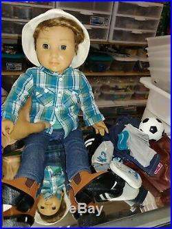 American Girl Logan Everett 1st Boy 18 Doll Clothing Lot