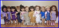 American Girl Lot Of 17 Dolls