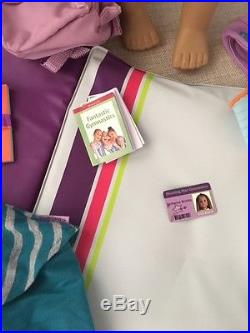 American Girl McKenna Doll Of The Year 2012 With Bars, Practice & Warm up Outfit