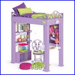 American Girl Mckenna S Loft Bed Set Desk Bedding Hamster All