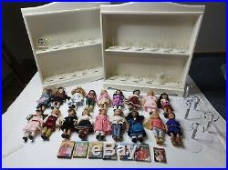 American Girl Mini Doll MEGA Lot Shelves Stands Christmas Books Retired