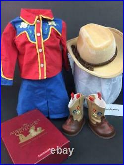American Girl Molly Dude Ranch OutfitCowboy HatEmbroidered Boots w Box