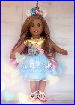 American Girl OOAK Custom DREAMY LEA Unicorn Retired Doll