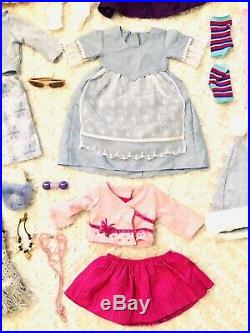 American Girl Orig 18 Doll 2008 With Huge Lot Of Clothes Shoes & Accessories