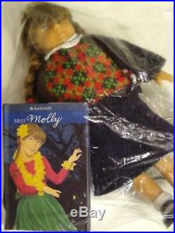 American Girl Pleasant Co. MOLLY DOLL Huge Lot Trunk Meet Outfit Clothes ++ GIFT