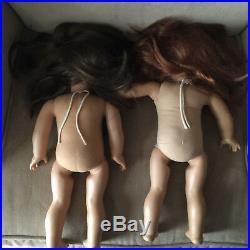 American Girl Pleasant Company 18 Lot 6 Dolls TLC Parts Repair Asian Felicity