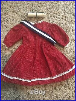 American Girl Pleasant Company Addy Patriotic Dress, Tagged PC 1994