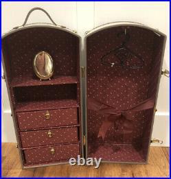 American Girl Pleasant Company Doll Samantha STEAMER TRUNK Wardrobe Closet Case