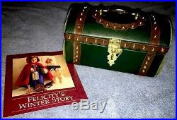 American Girl Pleasant Company Felicity Travel Trunk with Winter Story Pamphlet