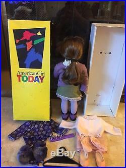 American Girl Pleasant Company Girl of Today LT Skin/ LT BR W Clothing Lot EUC