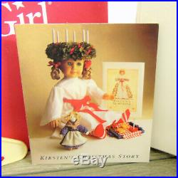 American Girl Pleasant Company KIRSTEN'S DOLL ST LUCIA Holiday OUTFIT WREATH BOX