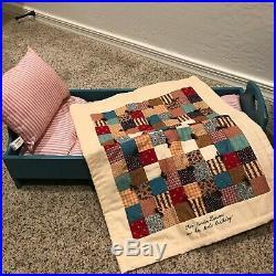 American Girl Pleasant Company Kirsten Blue Sweet Dreams Trunk, Bed, & Bedding