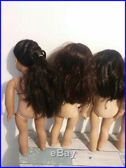 American Girl Pleasant Company Lot Seven Dolls of 18