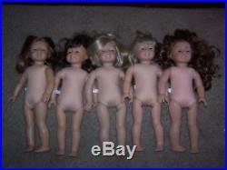 American Girl Pleasant Company Lot of 5 Dolls for TLC Repair Nikki Samantha More