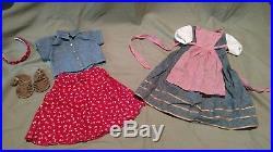 American Girl/Pleasant Company Trunk, Clothes, Rare Felicity Item