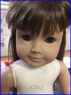 American Girl Pleasant Company White Body Samantha Doll & 1986 Clothing Lot