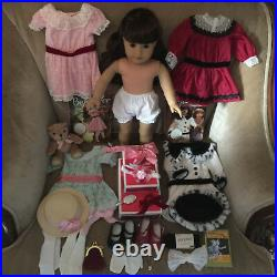 American Girl Samantha BeForever Costco Doll, 4 Outfits, Lot of Accessories
